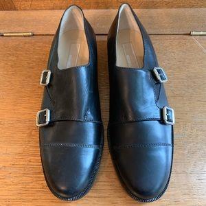 NWOB Michael Kors Black Monk Strap Loafers 8M